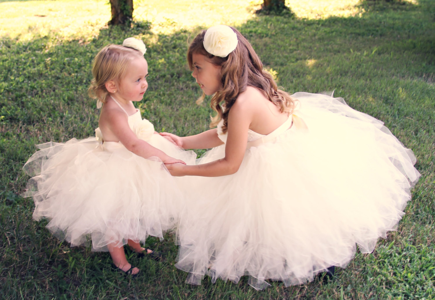 Tulle & Lace Tutu Flower Girl Dress - An Ivory or White Toddler or ...
